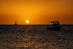 Hawaii Sunset. (drpeterrath) Tags: sunset kauai hawaii sunrise color ocean pacific poipu koloa water boat sailboat sun mood horizon canon eos5dsr 5dsr