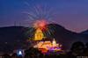 Kek Lok Si Light Up (Marcus Lim @ WK) Tags: nikon nikon1755 night nightscape bluehour firework light temple