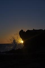 Breaking Waves (Stueyman) Tags: sony alpha ilce a7 a7ii za zeiss 55mm wa westernaustralia australia coast perth au rockingham capeperon peron water waves splash sunset ocean indianocean rocks