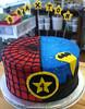 spider_batman (backhomebakerytx) Tags: cake birthday kid batman spiderman super hero 4th