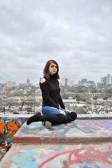 (Kristin Kurtz) Tags: portraits austin atx austintexas texas hopeoutdoorgallery graffitipark seniorphotos cityscape