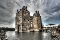 Slot Loevestein (Rik Tiggelhoven Travel Photography) Tags: slot loevestein castle clouds long exposure longexposure hdr building architecture prison bridge water netherlands nederland canon eos 6d fullframe full frame ef1740mmf4lusm europe europa middle ages rik tiggelhoven travel photography dramatic
