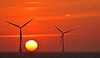 sun over scroby (dickie44) Tags: sunrise seascape pano panorama windfarm windturbine windpower caisteronsea norfolk scroby sands