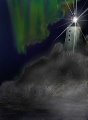 Lighthouse (bradnelles) Tags: lighthouse aurora water sea art painting