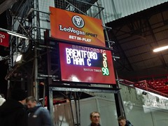Brentford v Birmingham City - Feb 2018 - The Picture Says It All (Gareth1953 All Right Now) Tags: brentford griffinpark scoreboard football celebration memento brentfordfc come you bees coyb comeonyoubees