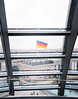 Berlin Skyline Through The Glass Of The Reichstag Copula Dome (Peter Greenway) Tags: dome touristattraction berlinskyline germany parliment tricolor tricolourflag flag travel tricolour rooftops german tricolorflag glassdome germanflag urban roofs flickr urbanlandscape germanparliment germanparlimentbuilding architecture reichstag copula skyline thereichstag berlin