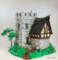 A Lords Manor (~The Maestro) Tags: manor castle lego avalonia green tree stone