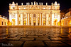 St. Peter's Basilica (Malcolm Thornton Photography) Tags: vatican architecture basilica saintpetersbasilica stpetersbasilica rome apostolicpalace basilicapapaledisanpietro bernini cathedral catholic christian church cittàdelvaticano gianlorenzobernini italy italia landmark famous nightime vaticancity pope night travel roma temple papal statue pillar