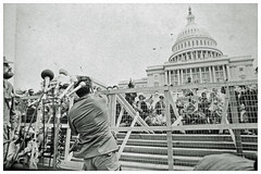 Vietnam veteran hurls medals in protest of the war: 1971 # 4 (washington_area_spark) Tags: vietnam veterans against war vvaw operation dewey canyon iii indochina 1971 washington dc protest demonstration encampment us capitol rally toss medals ribbons discharge papers commendations throw trash