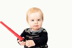 Will - 11.75 Months Old (Katherine Ridgley) Tags: toronto torontobaby indoor indoors studio starwars sith lightsaber baby babyboy babyfashion cutebaby cute nerd geek vader darthvader gap gapkids