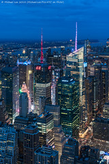 Midtown Towers (20180127-DSC08396-Edit) (Michael.Lee.Pics.NYC) Tags: newyork aerial observatory esb empirestatebuilding midtown timessquare bankofamericatower 4timessquare paramountbuilding worldwideplaza centralpark hudsonriver newjersey gwb georgewashingtonbridge night twilight bluehour bryantpark iceskating sixthavenue architecture cityscape sony a7rm2 fe24105mmf4g