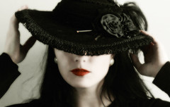 Fine Adjustments (coollessons2004) Tags: vintage mystery mysterious woman beautiful red lips