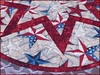 812_Patriotic Stars on Wood Table Topper Red_d (QuiltinWaYnE) Tags: quilted handmade kitchentabledecor diningtabledecor coffeetabledecor tablemat tabletopper tabledecor quiltedtabletopper quiltsy etsyseller etsyquilter etsy etsyshop etsyhandmade qqqetsy quiltedtabledecor tablelinen handmadequilt tablequilt