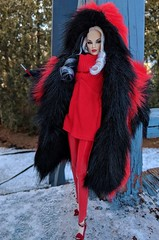 The cold never bothered me anyway. (Pablo Pacheco 85) Tags: cruelladevil tatyanaalexandrova integritytoys mattel barbie fashionroyalty disney 101dalmatians