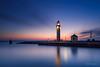 Lights on! (karindebruin) Tags: thenetherlands nederland zuidholland voorneputten zonsondergang sunset colors kleuren water haringvliet hellevoetsluis lighthouse vuurtoren vesting