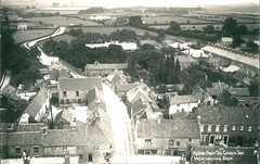 From the Church tower, looking east, Hedon 1905 (archive ref PO-1-60-3) (East Riding Archives) Tags: historic east yorkshire village villages vintage streets houses church churches tower view hedon