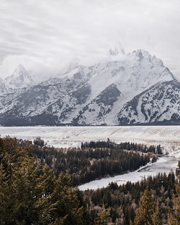 snake river overlook. grand tetons. wyoming. The s ...