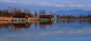 2018-01-27 Bootshäuser am Kochelsee