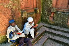 lalibela, Ethiopia (Neal J.Wilson) Tags: nikon nikkor d5600 africa african ethiopia ethiopian travel world people reallife lalibela church religions christianity men reading bible