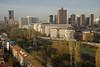 Zicht op Den Haag (Mary Berkhout) Tags: maryberkhout voorburg uitzicht view lucht stad trein cityview hoogbouw skyline