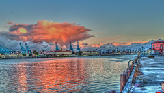 Big Pink Cloud in the Harbor (Michael F. Nyiri) Tags: sanpedro california southerncalifornia sky clouds harbor losangelesharbor