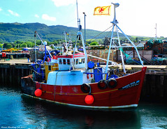 Scotland West Highlands Kintyre fishing trawler Harvest Moon docked at Campbeltown 16 July 2017 by Anne MacKay (Anne MacKay images of interest & wonder) Tags: scotland west highlands kintyre fishing trawler harvest moon docked campbeltown xs1 16 july 2017 picture by anne mackay