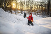 No time to remove backpack, there is fort building to be done (Elizabeth Sallee Bauer) Tags: active afterschool boy building child childhood children cold evening fort goldentones kid outdoors outside playing shoveling snow snowday white winter youth