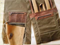 When you choose all possible modifications for one backpack: three zippered pocket outside, zippered closure. ⠀⠀⠀⠀⠀⠀⠀⠀⠀ Коли вирішив відірватись і замовив всі можливі опції в одному рюкзаку. 😁 . . #workingprogress #zippers #waxedcanvas #backpack #mak (Sergey Kutsenko) Tags: innesbags handmade etsyshop etsy backpack bag