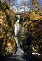 Aira Force Two (PJ Swan) Tags: aira force lake district england cumbria rainbow waterfall water great britain nature natural national trust magicmoments