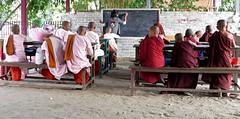 Open air class (vat_i_can) Tags: myanmar school class buddhist open air mandalay