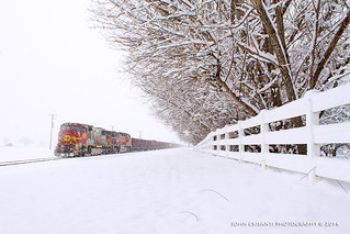 SD75M In the Snow