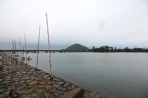 Hagi Castle Site from Hashimotogawa