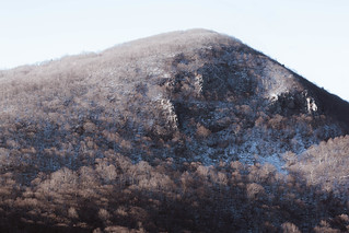 Winter View on Hawksbill Mountain from Crescent Rock Overlook