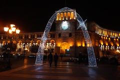 Republic Square (Alexanyan) Tags: republic square yerevan armenia new year christmas decoration light night armenian clock tower hayasdan capital city