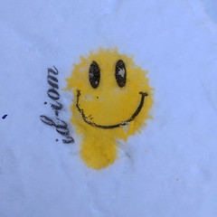 Never eat yellow snow (id-iom) Tags: aerosolpaint art arts brixton cool england graffiti ice idiom london paint smile smiley snow spraypaint stencil streetart uk urban vandalism yellow