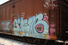 Smells (NJphotograffer) Tags: graffiti graff trackside railroad rail art freight train bench benching box car boxcar smells