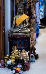 Buddha statue at the altar (kuntheaprum) Tags: cambodianarts crafts painting angkor nikon d750 samyang 85mm f14 nearyrothkunthea