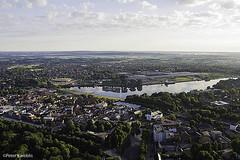 Rendsburg, Eider River, Germany (peterkaroblis) Tags: rendsburg obereider schleswigholstein ballonfahrt balloonride
