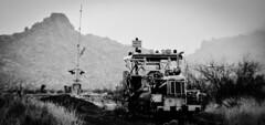 Left to rust on the Old Arizona & Utah Railway (Woodypug) Tags: abandon arizona atsf au wa mcconino branchlines mohave county railroad route66 i40 rain rust