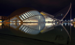 A night in Valencia (Fil.ippo) Tags: cityofartsandsciences ciutatdelesartsilesciències filippo filippobianchi d7000 longexposure mirror reflection valencia spain calatrava water acqua città rti scienza night notte notturno