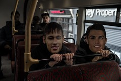Ronaldo and Neymar spotted on No.73 bus NE London.  'Never again will a single story be told as though it were the only one.' Giovanni in G - John Berger  69E61684-A93C-48DC-9C78-A26CF5643D25 (rafhuggins) Tags: ronaldo neymar spotted no73 bus ne london 'never again will single story be told though it were only one' giovanni g john berger football arsenal north east