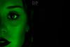 Emerald Power (Daniele Pauletto) Tags: led light dark model portrait modella face viso eyes girl dpphotography