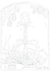 Fagen Fagott (annettesvae) Tags: naturen annette svae thunold tegning draw bergen norway nature kittelsen virus bacteria ecoli