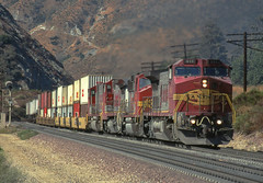 911 07-09-96 (IanL2) Tags: atsf ge dash8 911 cajonpass california usa locomotive railways trains freight railroad
