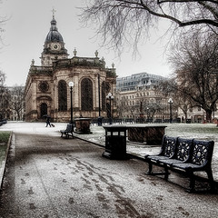 St Philip's Cathedral (seantindale) Tags: cathedral birmingham uk nikon travel snow