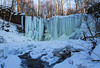 Random Adventures. (Matt Champlin) Tags: frozen waterfall ice frozenwaterfall cold chilly gorge winter hiking adventure amazing beautiful aerial drone canon 2018 life home blue mysteryfalls