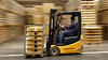 Yellow speed (Cajofavi) Tags: fs180121 panorering fotosondag kalmar sweden truck arla arlafoods forklift ost cheese warehouse