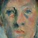 CEZANNE,1890 - Portrait de Madame Cézanne (Orangerie) - Detail q