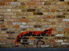The Shy Fox (Steve Taylor (Photography)) Tags: fox animal graffiti stencil wall brown black red brick uk gb england greatbritain unitedkingdom margate