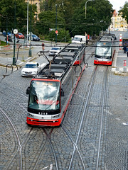 Prague trams 2017 (Daves Portfolio) Tags: prague 2017 czechrepublic tram publictransport two praha
